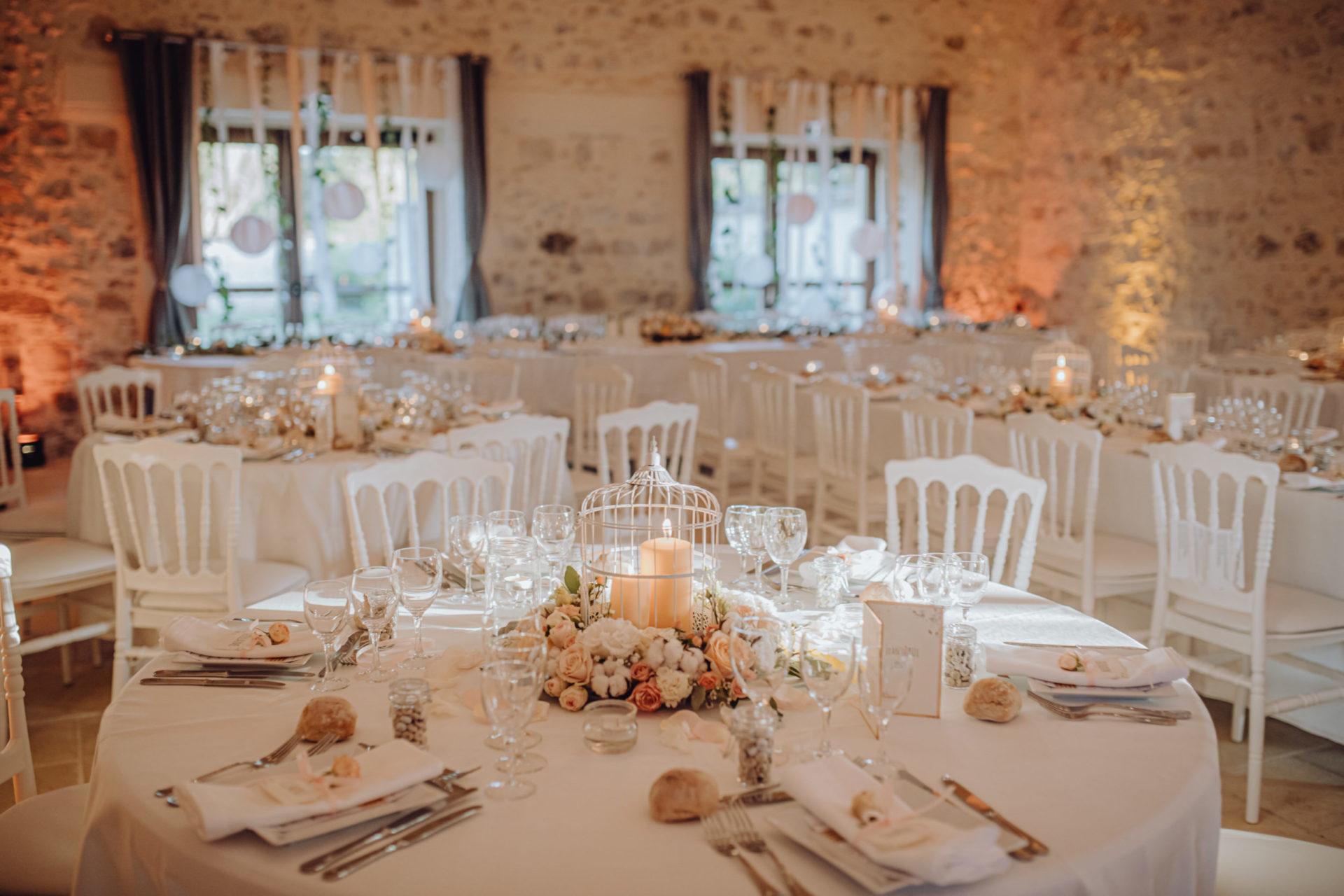 Réception dans la Grande Grange de La Thibaudière par Alexandra Maldémé