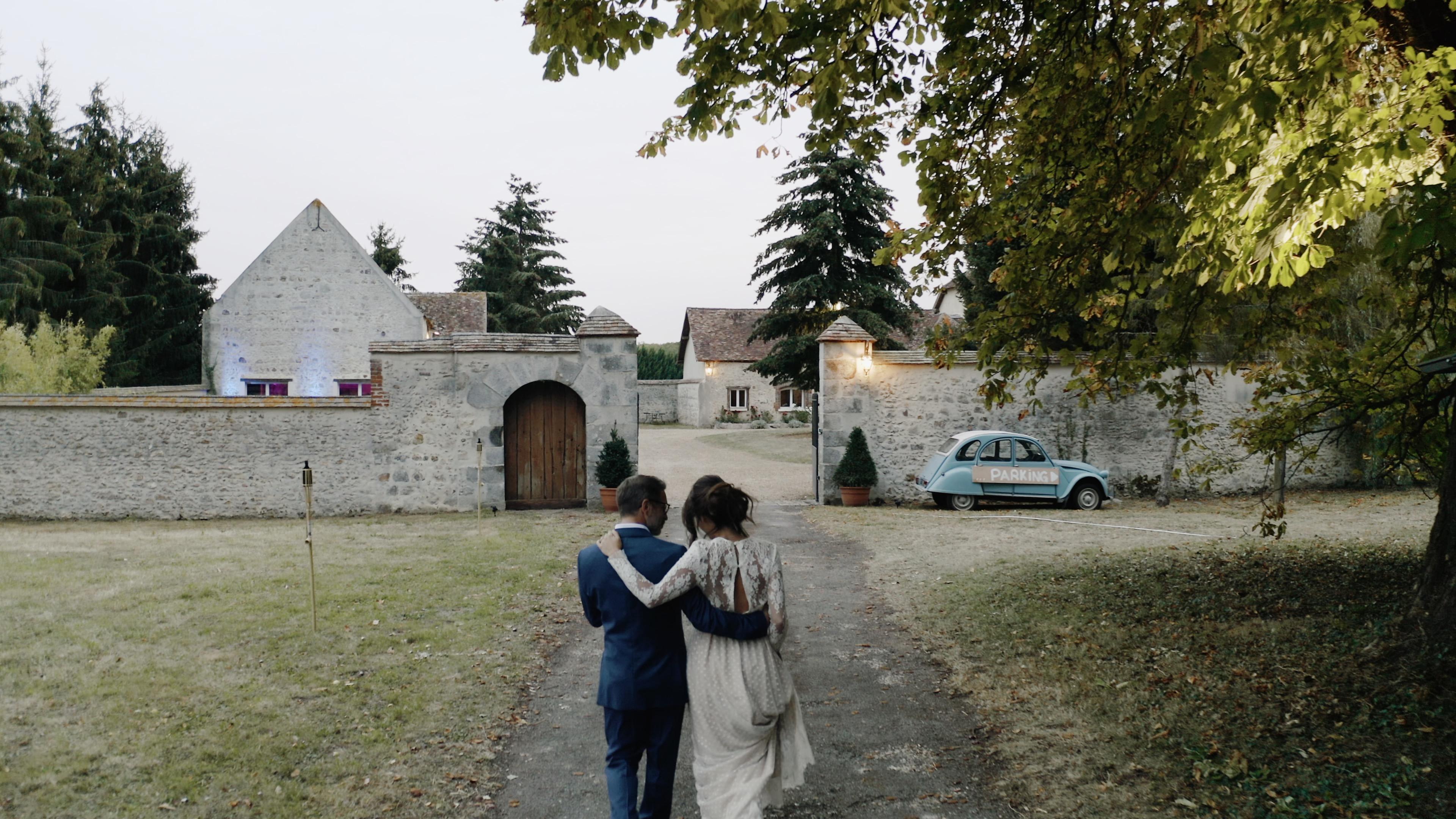 Les mariés à La Thibaudière Alison Photographer pour MC2 Mon Amour