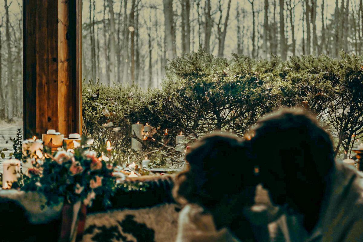 Mariage d'hiver chaleureux La Roche Couloir par Cécile Bellu