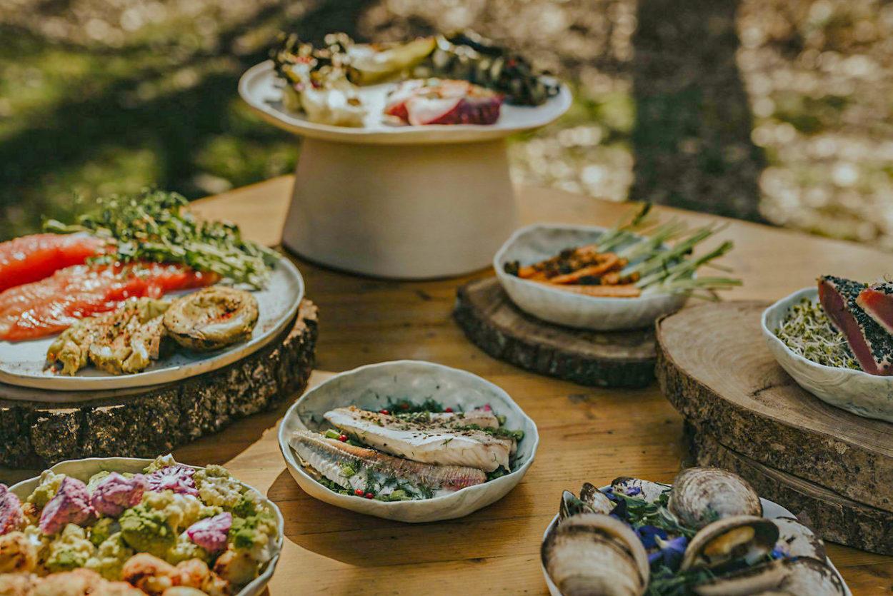Dîner repas mariage La Roche Couloir légumes poisson par Cécile Bellu