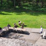 Séminaire réunion teambuilding sur la terrasse à La Roche Couloir