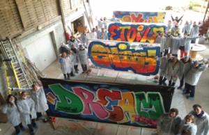 Activité graffiti art groupe teambuilding séminaire cohésion