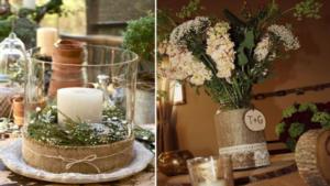 Déco mariage bougie bouquet